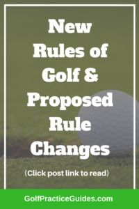 New rules of golf and rule changes coming your way. #GolfRules #GolfTips