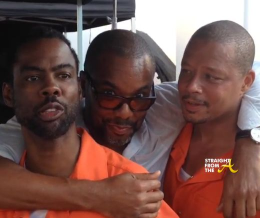 Empire Season 2 Sneak - The first episode with be a glimpse into Lucious Lyon's prison time and reportedly Chris Rock will star (Frank Gathers) as someone from Lyon's past who is also a prisoner in the same jail.Both actors were dressed in orange jumpsuits for shooting at Chicago's Cook County Juvenile Detention Center