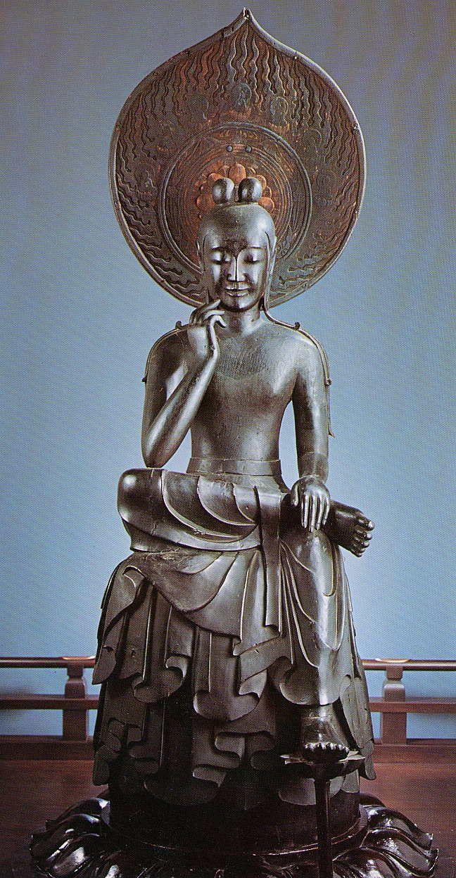 菩薩半跏像-bosatuhannkazou- (maitreya) It is bodhisattva Maitreya who contemplates. 中宮寺(chuuguuji)