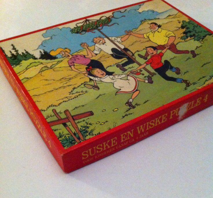 Vintage Suske en Wiske / Bob et Bobette puzzel door jazminblaton op Etsy