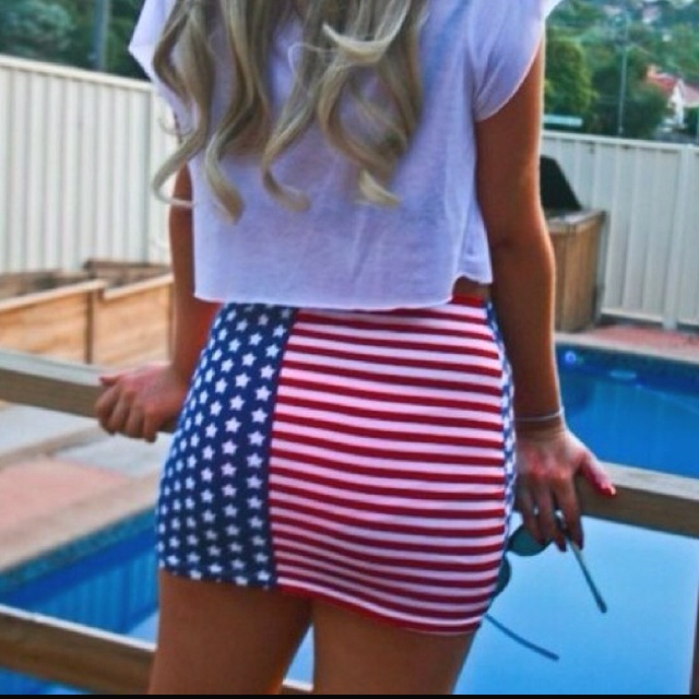 want: Outfits, Minis Skirts, American Flags, Style, Fourth Of July, 4Th Of July, Closet, Cute Skirts, American Girls