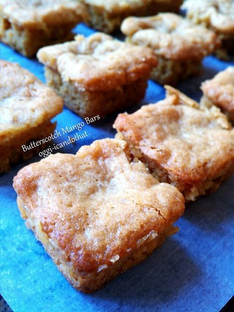 I Can Do That!: Butterscotch Bars with Dried Mangoes