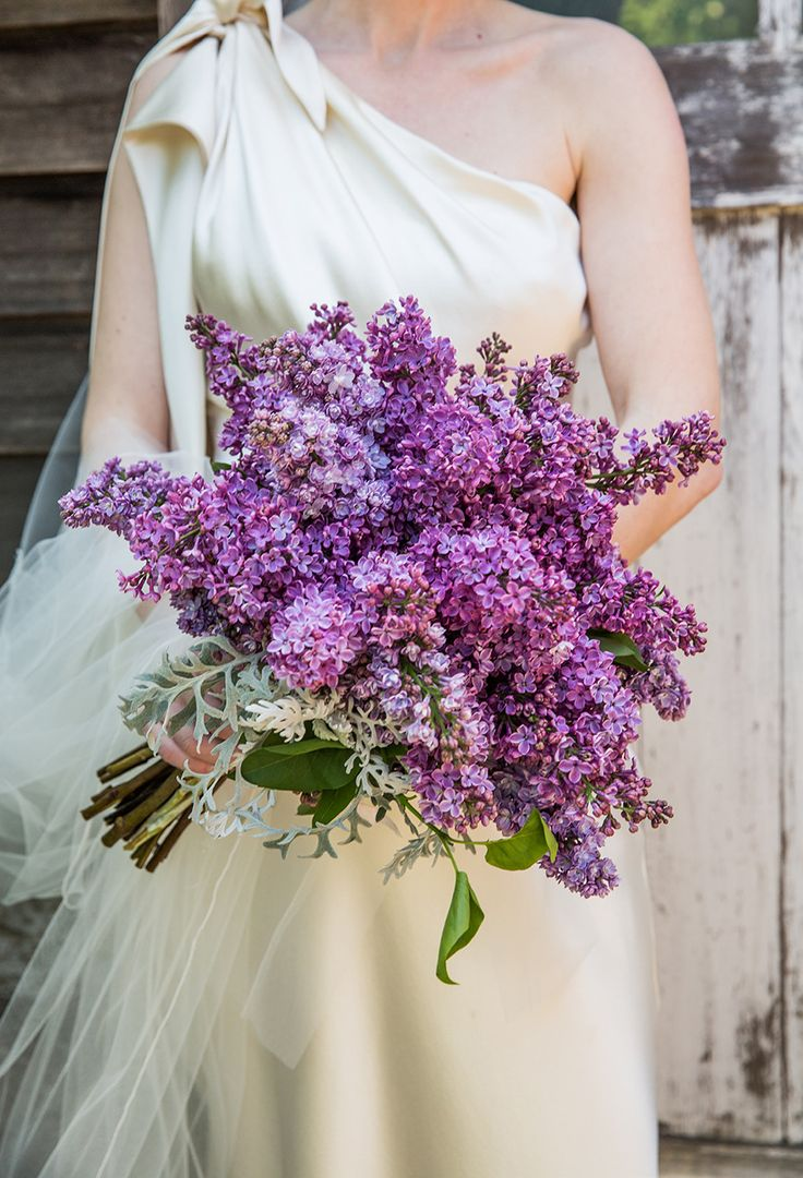 Lovely lilac bouquet: http://www.stylemepretty.com/california-weddings/2015/03/30/elegant-barn-wedding-2/ | Photography: A Guy + A Girl Photography - aguyandagirlphotography.com