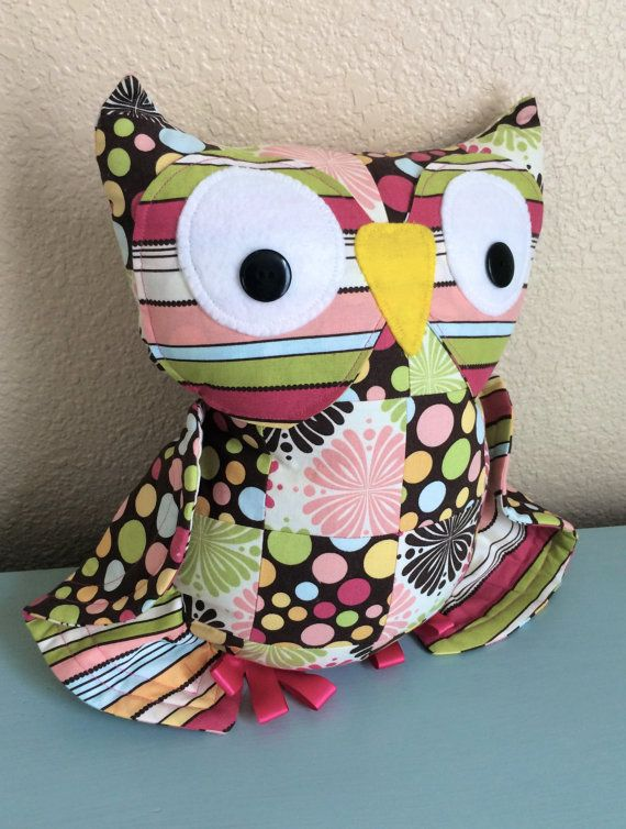 The Cutest Little Owl Accent Pillow By Peachy Patchwork
