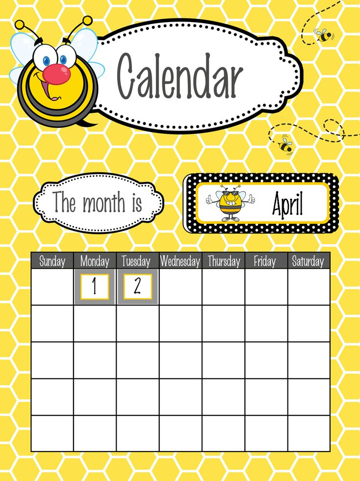 Calendar Poster For Classroom : Images about bees classroom decor on pinterest