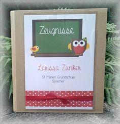 Zeugnismappe Sammelmappe Einschulung 1. Schultag von CARD-YA Kreatives aus Papier auf DaWanda.com