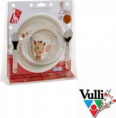 Żyrafa Sophie - Zestaw do jedzenia z miseczką - Balony - Ten kolorowy komplet obiadowy będzie idealnym prezentem dla Dziecka. Urocza i zabawna Żyrafka Sophie w otoczeniu baloników będzie wspaniałą towarzyszką podczas codziennych posiłków Twojego Dziecka.