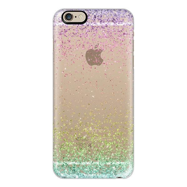 iPhone 6 Plus/6/5/5s/5c Case - Colorful Ombre Sparkly Glitter Burst (€36) ❤ liked on Polyvore