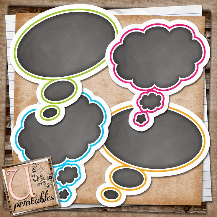 U printables by RebeccaB: FREE Printable - Thought Bubbles