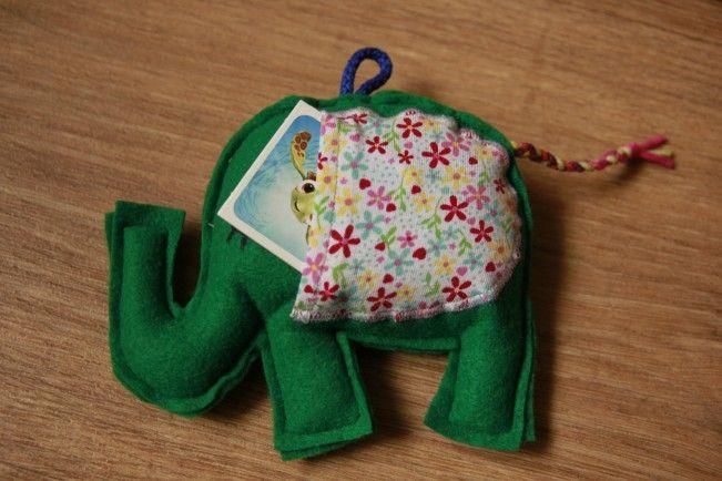 Zelený levandulový sloník s oušky na dárečky