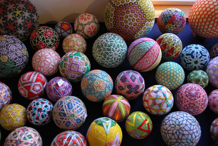 92-Year-Old Grandma Shares 30 Years of Embroidered Temari Balls -NanaAkua is a graphic designer and illustrator from Japan. Back in 2009 she uploaded an incredible 468-picture gallery on Flickr that featured the amazing embroidery work of her then 88-year-old grandmother over a span of 30 years.  Her grandmother practices a folk art form known as Temari.