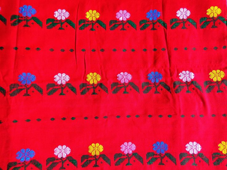 Kurta Fabric from Assam - Red (Second) from Lal10.com