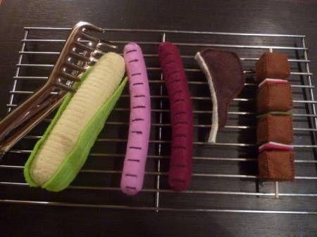 barbecue Inspiration: Barbecue en feutrine