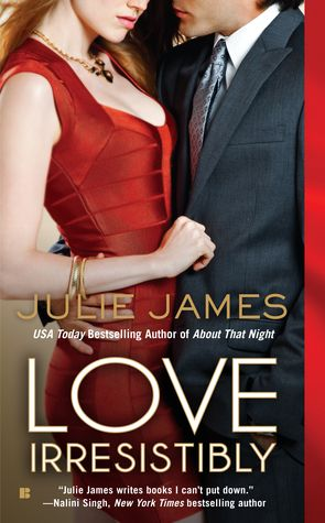 Love Irresistibly (FBI / US Attorney, #4) by Julie James. Read all her books and reading this right now - LOVE her!!
