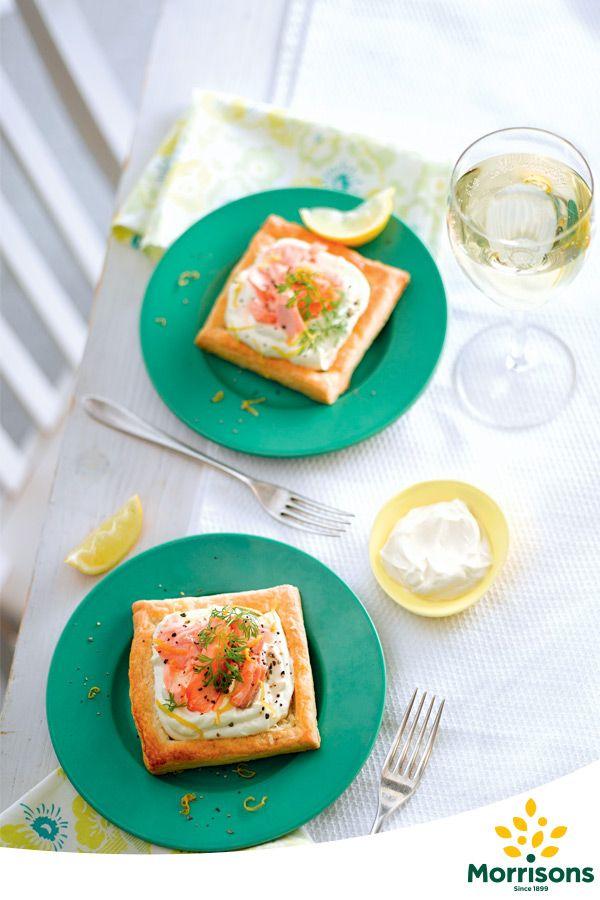 Open Salmon Tarts