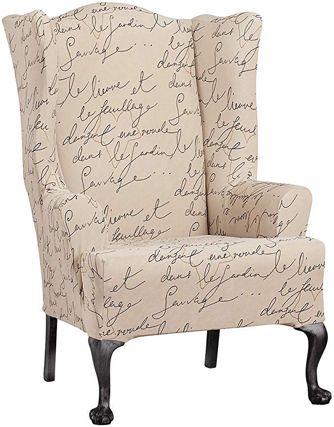 WAVERLY SF43531 Chair Slipcover, Wing, Parchment Review