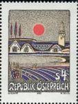 Abendsonne über dem Burgenland - 1983, Wert: öS 4,--<br /> Herausgeber:<br /> Republik Österreich /