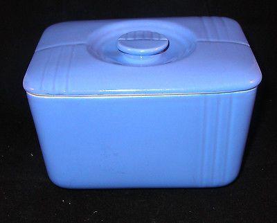 Art Deco Refrigerator Dish Hall for Westinghouse Delphinim Blue Phoenix pattern