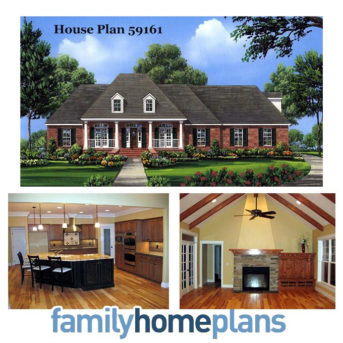 Garage Plan 95826 At Familyhomeplans Com: European Southern House Plan 59161