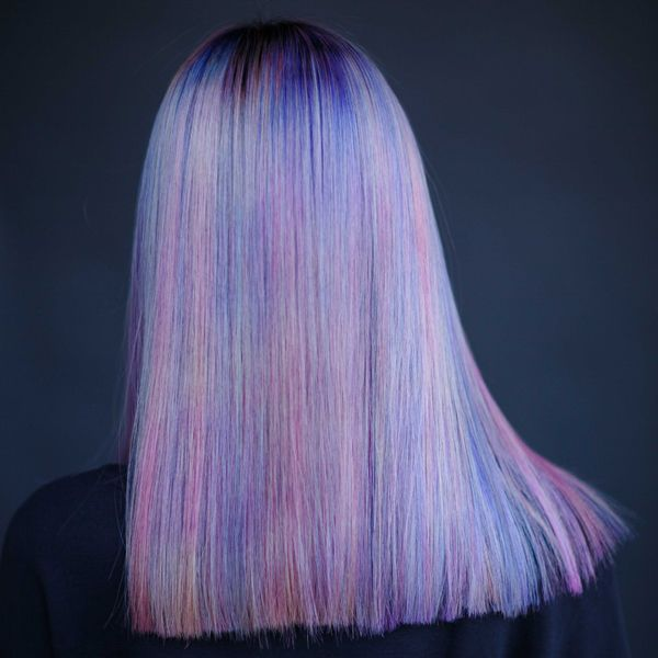 We spied this super cool pastel melt at the Wella Professionals Top Artist Training in Santa Monica, where artists from across North America had the chance to experiment with Wella's new Color Fresh CREATEsemi-permanent line! This creation is by Wella Top Artists Dean Roybal and Danny Lozado, who started with Level 2 virgin hair and … Continued