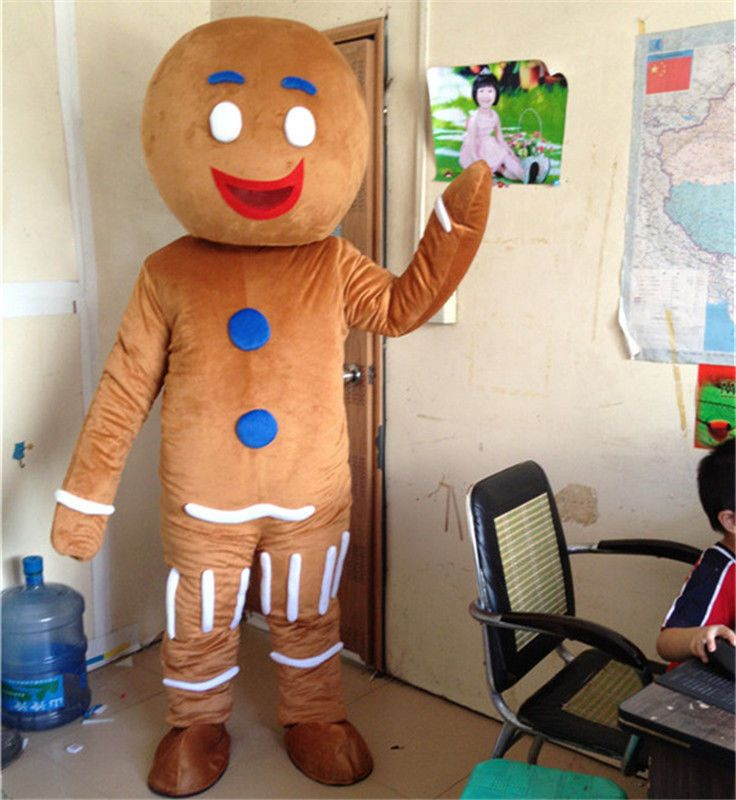 Christmas The Gingerbread Man Mascot Costume Cosplay Clothing Carnival Adults @@