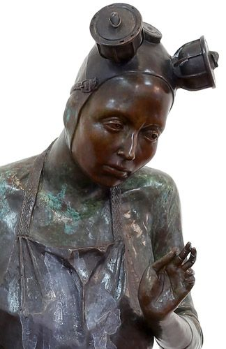 "An original sculpture by Elizabeth Balcomb entitled: ""Submit."" bronze. h 117cm.  #fineart #bronze #sculpture #ElizabethBalcomb #SouthAfricanArt #SouthAfricanArtist  For more please visit www.finearts.co.za"