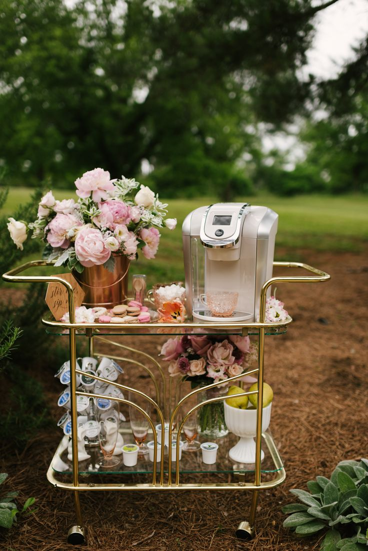 Create a whimsical Keurig Coffee Bar to wow your guests at your Bridal Shower Brunch.