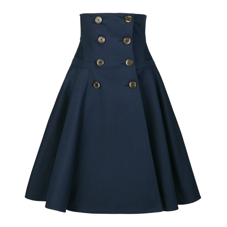 Work Skirt navy - Outlet - Online Shop - Lena Hoschek Online Shop