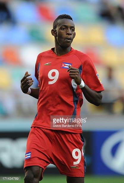 Maykel Reyes of Cuba during the FIFA U20 World Cup Group B match between Cuba and Nigeria at Kadir Has Stadium on June 24 2013 in Kayseri Turkey