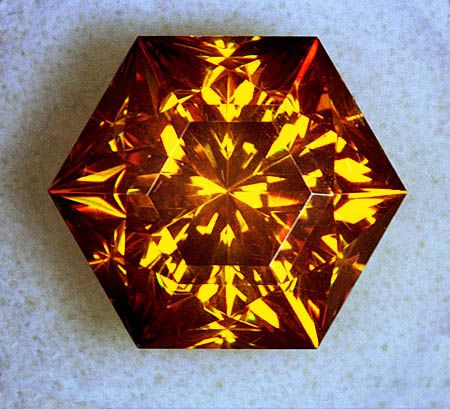 Sphalerite Cut Gem.  It has a dispersion three times that of diamond.