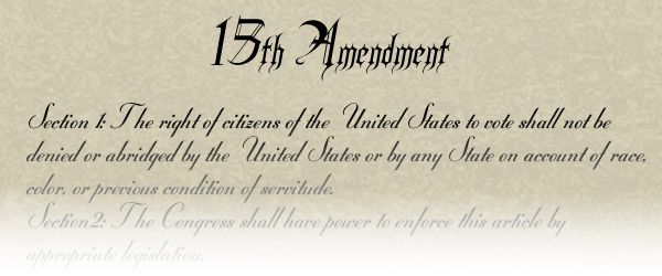 The Fifteenth Amendment, prohibiting any government in the United State from denying a citizen the right to vote was ratified February 3rd 1870.