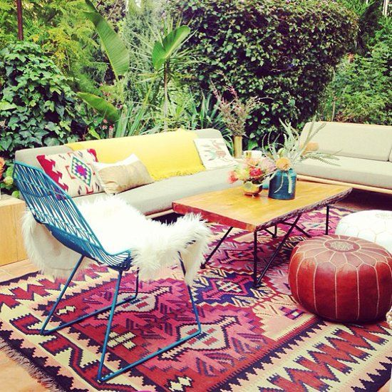 Create an Outdoor Room: If your interiors lack square footage, then take it to the yard by setting up an outdoor room. Add powder-coated steel, reclaimed wood, outdoor fabric upholstery, and rugs to your shopping list. Source: Instagram user em_henderson
