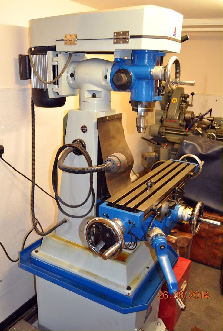 Lathes.co.uk Advertising page  For Sale: an unused Chester 626 Swivel-head Turret Milling Machine on the maker's cabinet stand and with imperial graduations on the large-diameter, satin-chrome micrometer dials. Fitted with an R8 taper spindle that takes low-cost,  easily-available Bridgeport tooling. . £1350  Phone: 0117-9600622  (Bristol)