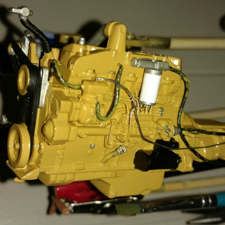 Scale model caterpillar engine I finished today 02/03/18