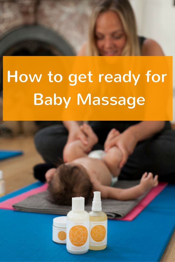 How to get ready for baby massage. Part one of Nom Nom's how to guide to infant massage sharing tips and advice on including baby massage in your routine and using it to help soothe, calm and connect. When to do baby massage. What you need for baby massage. Where to do baby massage. How to do baby massage. #BabyMassage #InfantMassage #BabyMassageTips #FeelNomNom