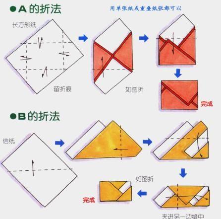 Irregular stationery origami the fancy folding origami envelope