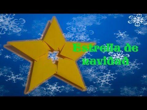 Linda estrella hecha con papel para adornar tu árbol, tu puerta, la pared o lo que gustes: DIY | Estrella de navidad con hojas de papel