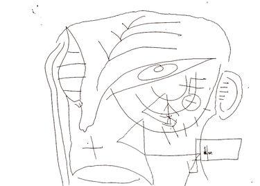 """Saatchi Art Artist remus-lucian stefan; Drawing, """"alb negru alb 3"""" #art"""
