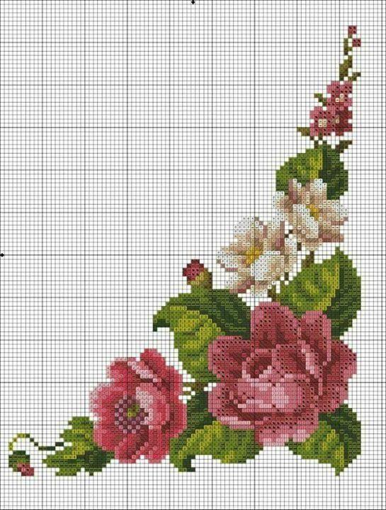 Великолепная цветочная схема вышивки крестом #схемавышивки #вышивкакрестом #вышивкакрестомцветы Magnificent color and cross stitch patterns #crossstitch #crossstitchpattern