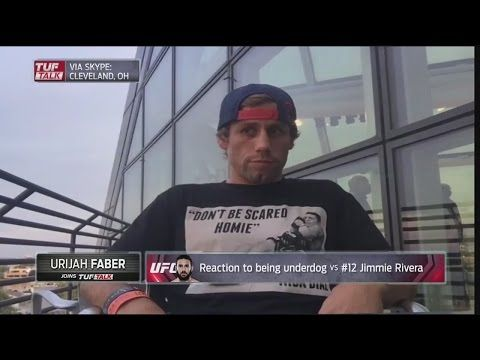 Urijah Faber reacts to being an underdog against Jimmie Rivera at UFC 203 - 'TUF…