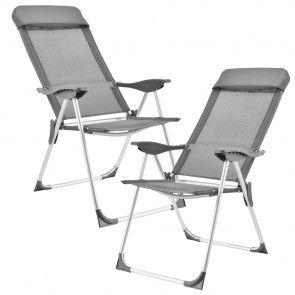 [casa.pro] Sedia da campeggio in un set di 2 struttura di alluminio copertura in tessuto 61,70 €