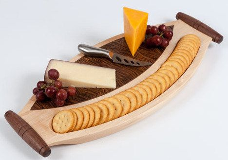 Wooden cheese board wood serving tray cheese server cheese