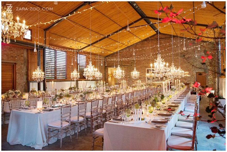 #Rockhaven is one of our favourite #wedding #venues. The Barn (reception venue) is the perfect match between sophistication and rustic charm.  The #lighting was done by #Somethingdifferent.  See more of this wedding at #Rockhaven in Elgin, #Southafrica on the ZaraZoo blog.  http://www.zara-zoo.com/blog/wedding-at-rockhaven/