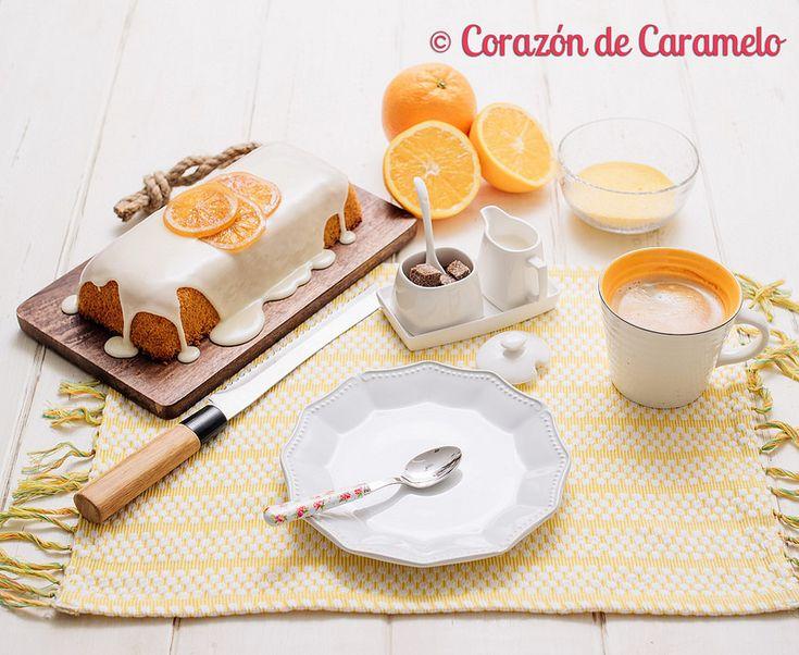 Bizcocho de Polenta con Glaseado de Naranja