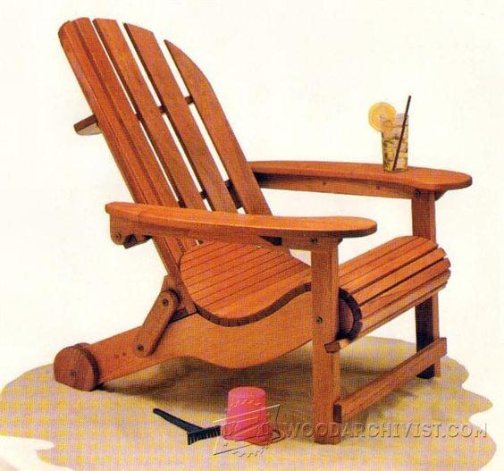 Folding Adirondack Chair Plans - Outdoor Furniture Plans & Projects   WoodArchivist.com