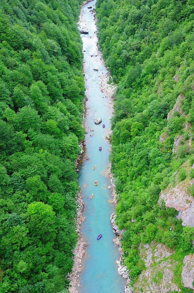 A world heritage site, Tara River Canyon is the longest canyon in Montenegro and the deepest river canyon in Europe. It's a white-water-rafting spot for thrill seekers.