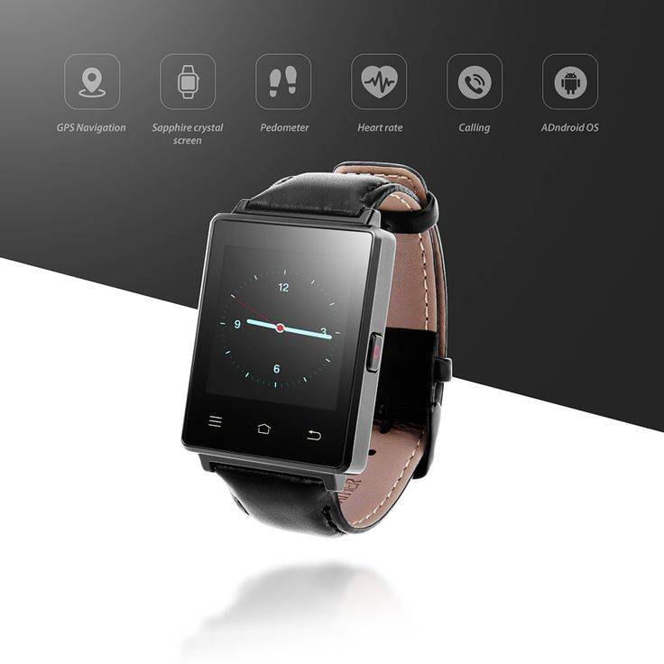 NO.1 D6 Android 5.1 Smart Watch Phone 1.63 inch MTK6580 Quad Core 3G GPS Smartwatch 1G 8G Heart Rate Monitor for Android IOS //Price: $104.46      #sale