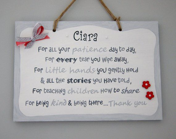 Present Gift Thank Leaving Quote Print A gorgeous Personalised Autism poem print to say thank you to a Teacher or School