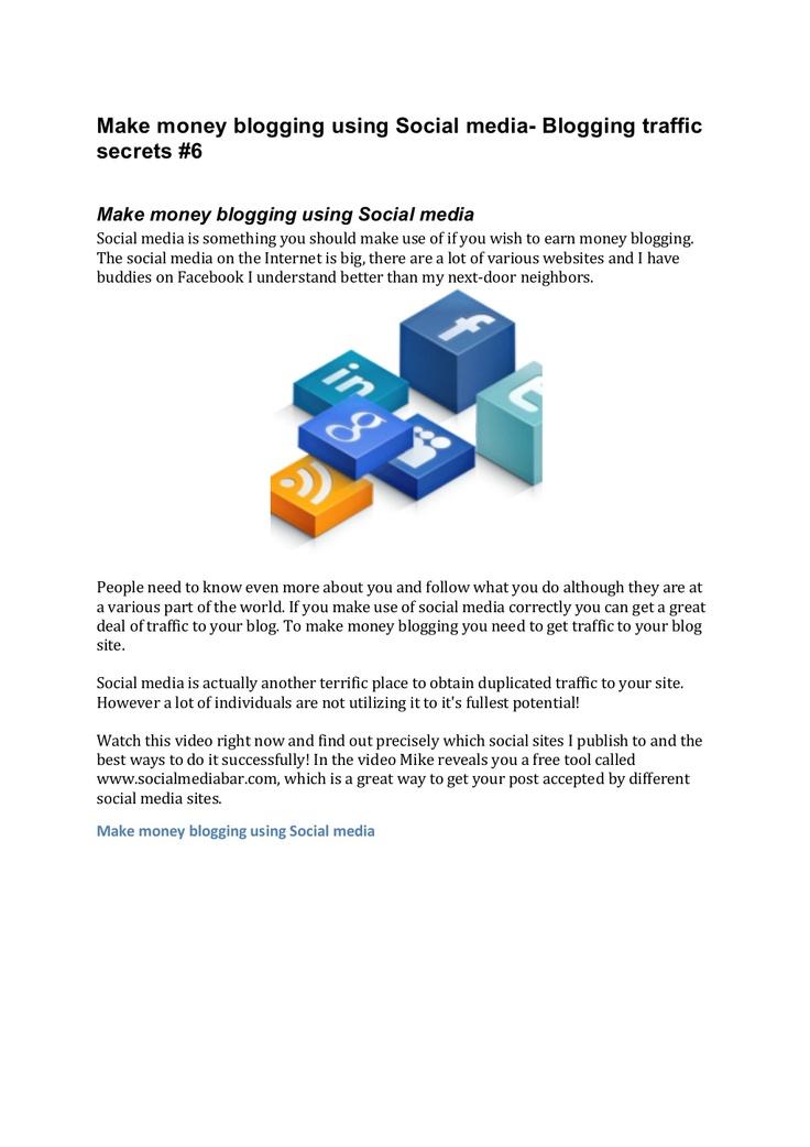 make-money-blogging-using-social-mediaslideshare by pmkab77 via Slideshare