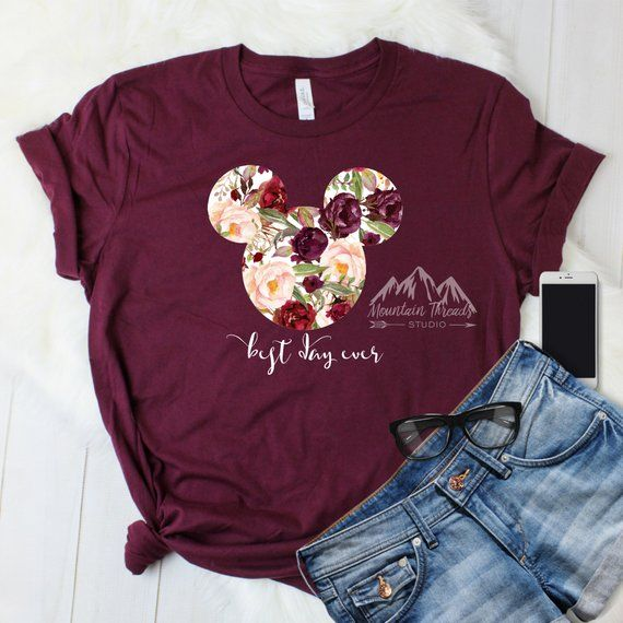 In Stock Fast Shipping Maroon Disney Shirt Watercolor Glitter